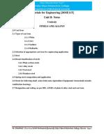 Materials for Engineering Unit II 20ME11T DTE Karnataks