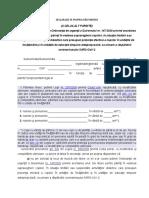 DECLARAŢIE PE PROPRIA RĂSPUNDERE CELALALT PARINTE OUG 147-2020 noiembrie