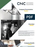 [EN]CNC Machining Solutions - Company Presentation