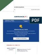 Gmail - Votre réservation Air France en attente de paiement