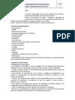 14-Ficha de Procedimentos de Segurança - Trab. de Pavimentação e Assentamentos de Lançis