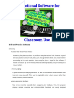 Instructional Software for Classroom Use