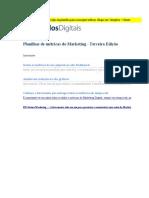 Cópia de Acompanhamento de Métricas de Marketing - Terceira Edição