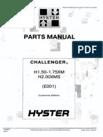 Hyster H1.50XM (E001) parts manual