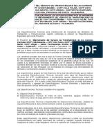 especificaciones tecnicas c.v.paccha