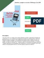 La comptabilité facile_ Explications, exemples et exercices Télécharger, Lire PDF