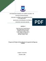 Projeto engenharia econômica