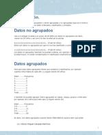 Datos agrupados y no agrupados Miguel Calzada