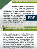 1. INFORME DE SELECCIÓN