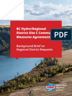 PRRD Background Brief on Site C Requests