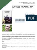 LOS NEANDERTALES CANTABAN RAP + cuestionario