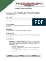 PR-P-021 Procedimiento para la Gestion del Cambio 1