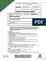 06 - P1, Jan-2020, QP