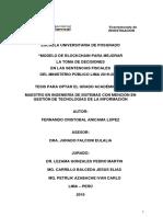 MODELO DE BLOCKCHAIN PARA MEJORAR LA TOMA DE DECISIONES EN LA SENTENCIAS FISCALES DEL MINISTERIO PUBLICO.