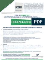 Censos 2011 - Recrutamento Recenseadores[1]