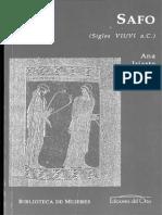 Safo Siglos VII VI Madrid Ediciones Del