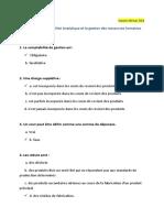 Issam idrissi - QCM sur la comptabilité Analytique et la gestion des ressources humaines