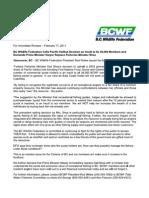 BCWF News Release Feb 17 2011