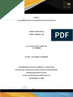 TAREA 1 Entrega -Fundamentos de la Antropología Psicológica.