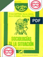 Díaz - Sociologías de La Situación