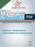 MANUAL ORIENTADOR DAS CONFERÊNCIAS MUNICIPAIS