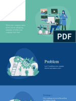 Green and Blue Illustrative Technology Pitch Deck Presentation