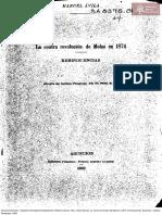 Avila, Manuel. La Contra Revolucion de Molas en 1874