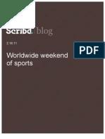 Worldwide weekend of sports, Scribd Blog, 2.18.11