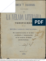 1895-Cronica Velada Discursos Escuela Nacional Preparatoria