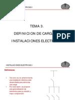 TEMA 3 DEFINICION DE CARGA EN LAS INSTALACIONES ELECTRICAS RESIDENCIALES