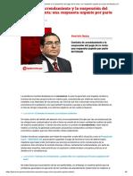 Contrato de Arrendamiento y La Suspensión Del Pago de La Renta_ Una Respuesta Urgente Por Parte Del Estado _ LP