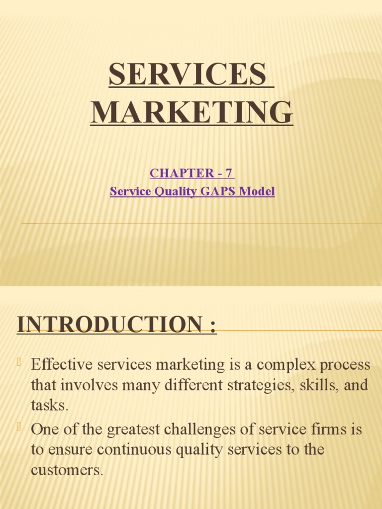 7 gaps model of service quality