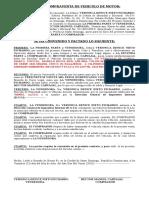 ACTO DE VENTA  de vehiculo ESPOSO LILY