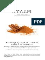 BAIN POUR ATTIRER DE L'ARGENT GRÂCE À LA CANNELLE ⋆ Savoir Vivre Spiritualité.pdf