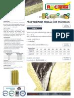 Ficha Técnica - Manta de Lã de Rocha revestida a alumínio MA 70 (70 KGM3)
