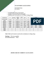 VOLTAGE DROP AND SHORT CIRCUIT CALCULATION