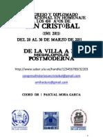 CONVOCATORIA-CONGRESO-DIPLOMADO SAN CRISTÓBAL 450 AÑOS-DIFUSIÓN