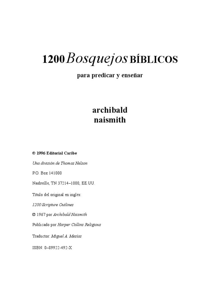 1200 Bosquejos B U00cdblicos
