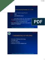 Fundamentals of Weldings