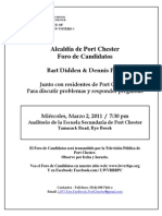 Port Chester Mayoral Candidates Forum Flyer Spanish Final