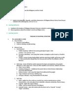 LESSON 1 TIMELINE OF PHILIPPINE LITERATURE