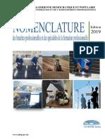 Nomenclature édition 2019 en LF(4)