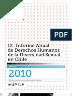 Movilh - IX Informe Anual de los DDHH de la Diversidad Sexual en Chile - 2010