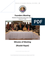 PERSILAT Minutes of Founders Meeting January 21, 2011
