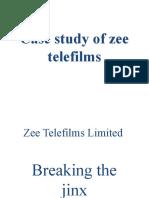 case study zee telefilms competitive strategies