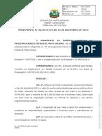 PROVIMENTO N. 30/2019-CM, DE 16 DE DEZEMBRO DE 2019