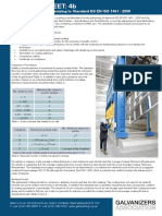 HDG Datasheet 4b - A Guide to Hot Dip Galvanizing to Standard BS EN ISO 1461