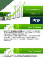 SAS Linear Regression