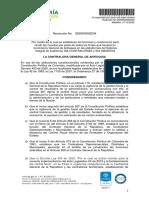 Resolución rendición cuenta CGA 2021