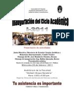Afiche inauguración del ciclo I2011